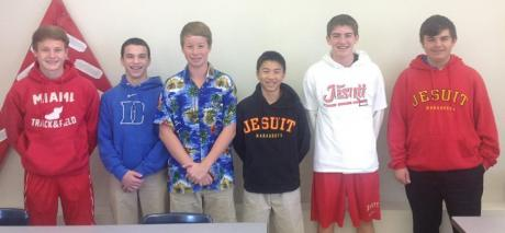 From Left: Brendan Jones, Peter Lucas, Daniel Rock, Alex Mar, Jack Murphy, Braeden Prymak