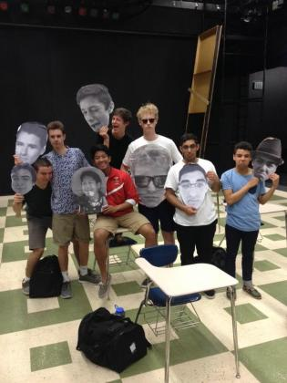 Image of Winter Musical Seniors Get Big Heads