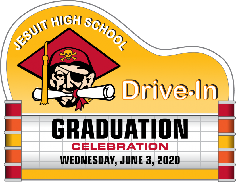 "Drive in marquee with ""Graduation"" on the display"