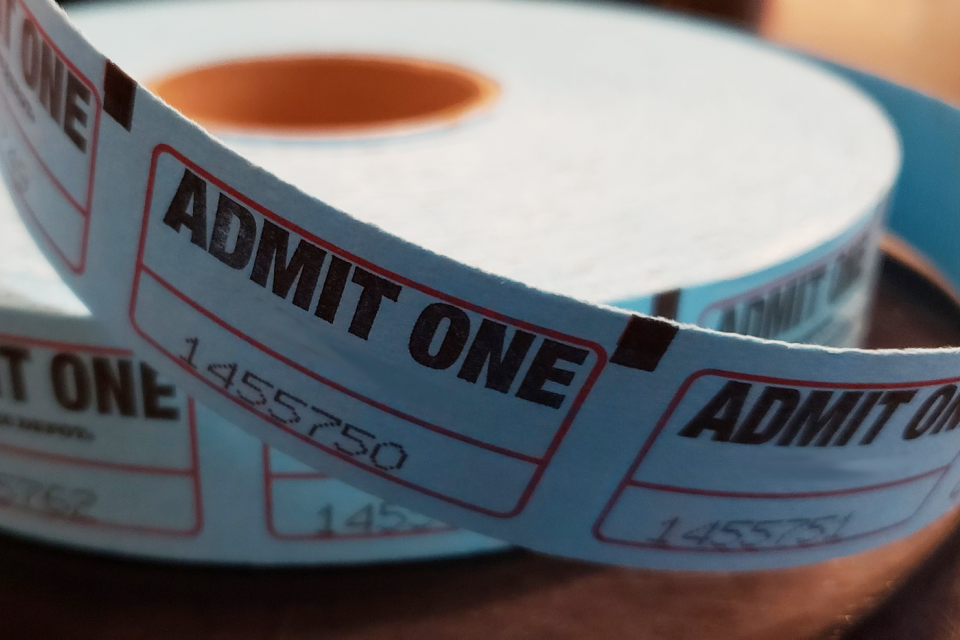 Image of a roll of tickets